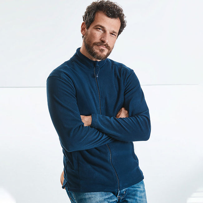 Classic Red - Lifestyle - Russell Europe Mens Full Zip Anti-Pill Microfleece Top