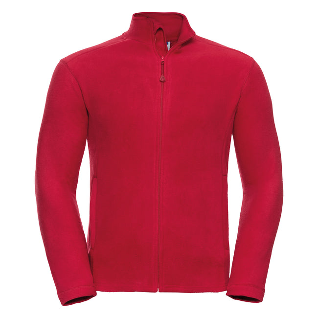 French Navy - Front - Russell Europe Mens Full Zip Anti-Pill Microfleece Top