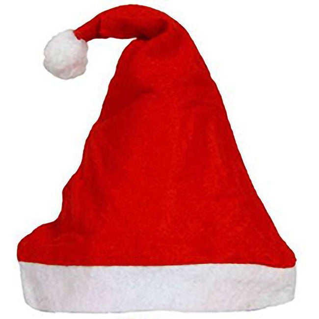 Red - Back - Christmas Shop Unisex Budget Value Santa Hat