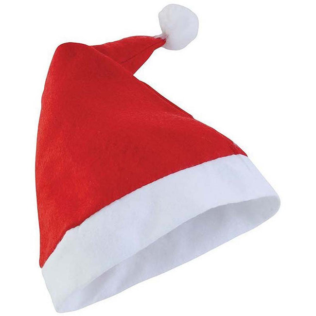 Red - Front - Christmas Shop Unisex Budget Value Santa Hat