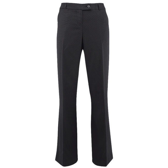 Black - Front - Alexandra Womens-Ladies Icona Bootleg Formal Work Suit Trousers