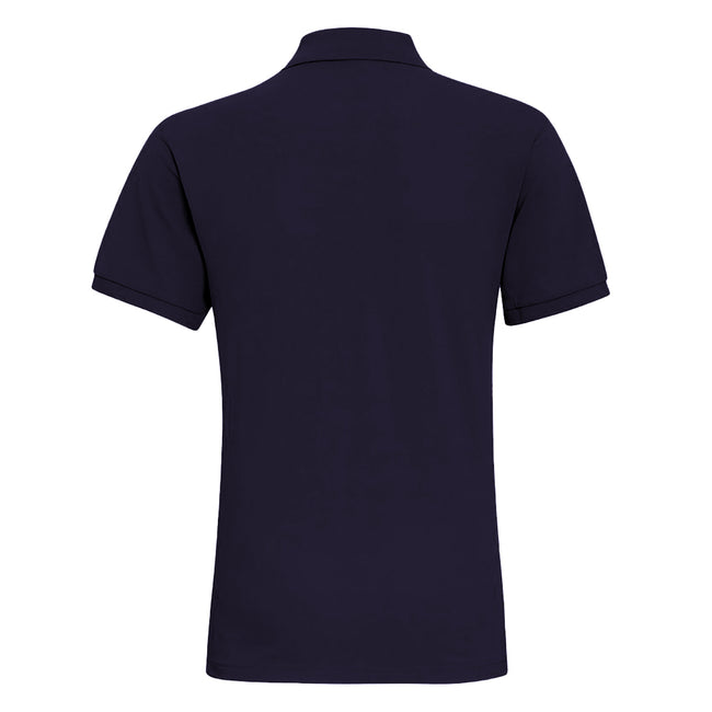 French Navy - Side - Asquith & Fox Mens Plain Short Sleeve Polo Shirt