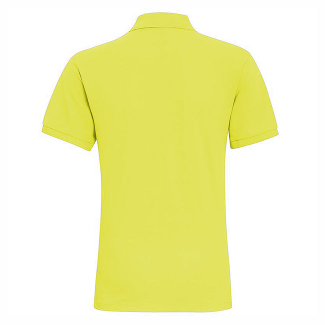 Neon Green - Front - Asquith & Fox Mens Plain Short Sleeve Polo Shirt