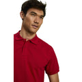 Milk Chocolate - Side - Asquith & Fox Mens Plain Short Sleeve Polo Shirt