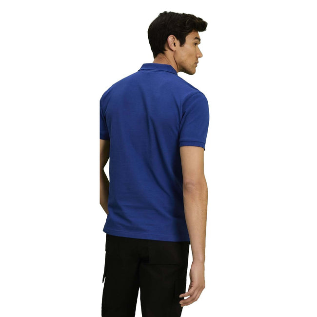 Natural - Back - Asquith & Fox Mens Plain Short Sleeve Polo Shirt