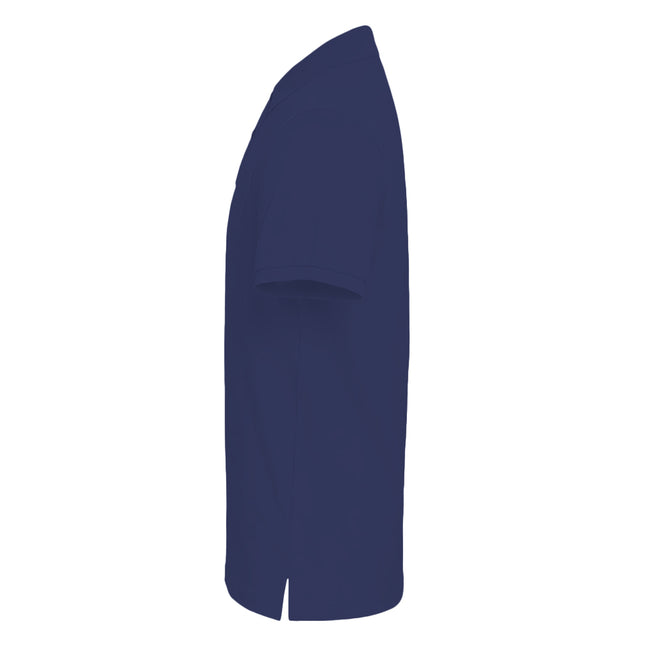Plum - Side - Asquith & Fox Mens Plain Short Sleeve Polo Shirt