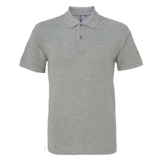 Washed Kelly - Front - Asquith & Fox Mens Plain Short Sleeve Polo Shirt