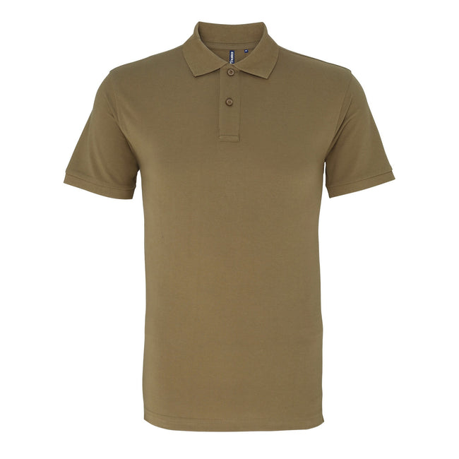 Washed Kelly - Side - Asquith & Fox Mens Plain Short Sleeve Polo Shirt