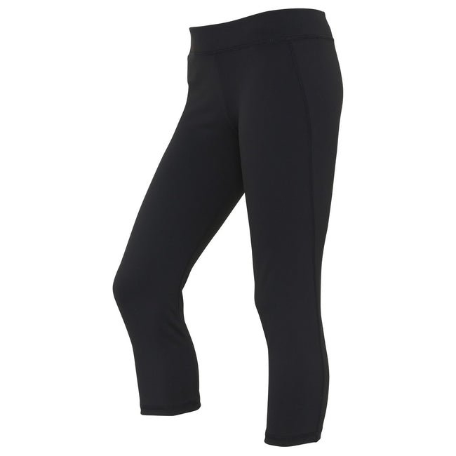 Jet Black - Front - AWDis Just Cool Womens-Ladies Girlie Capri Sports Trousers