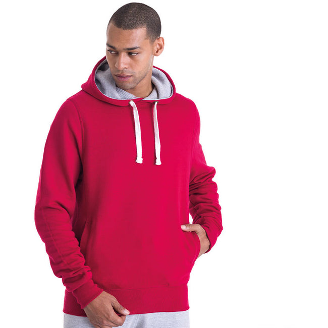 Red Hot Chilli - Back - AWDis Just Hoods Mens Chunky Pullover Hoodie