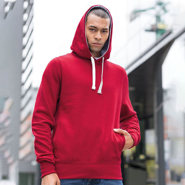 Red Hot Chilli - Side - AWDis Just Hoods Mens Chunky Pullover Hoodie
