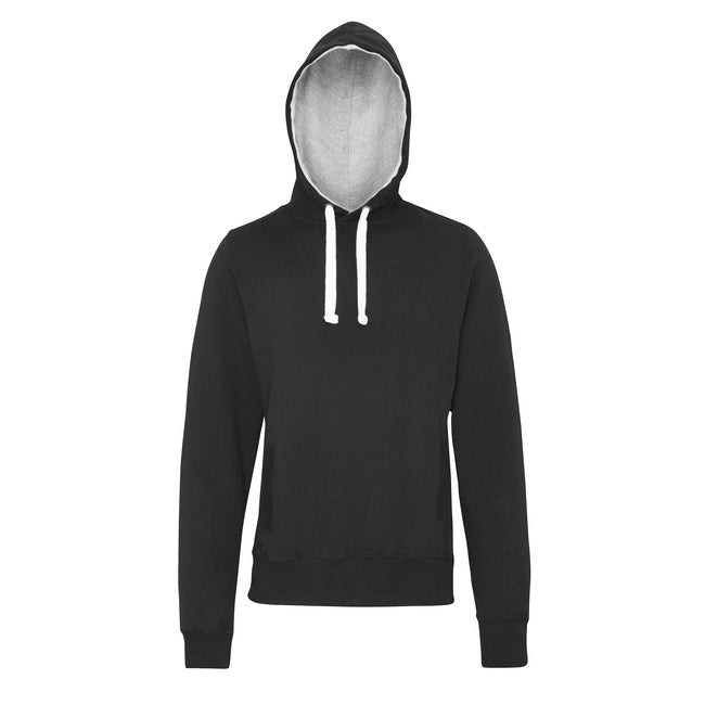 Charcoal - Front - AWDis Just Hoods Mens Chunky Pullover Hoodie
