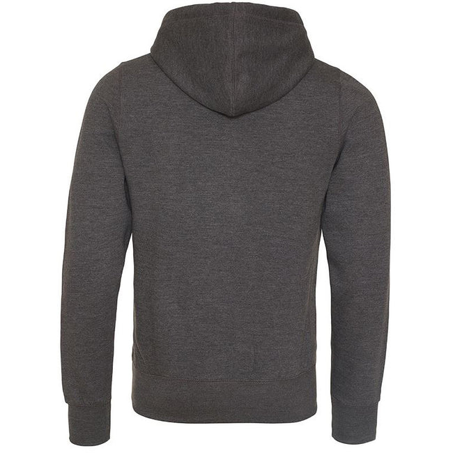 Charcoal - Back - AWDis Just Hoods Mens Chunky Pullover Hoodie