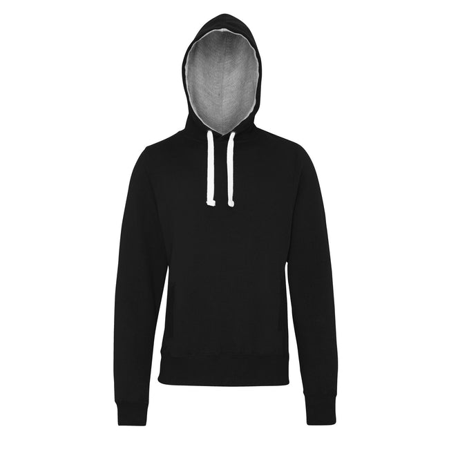 Jet Black - Front - AWDis Just Hoods Mens Chunky Pullover Hoodie