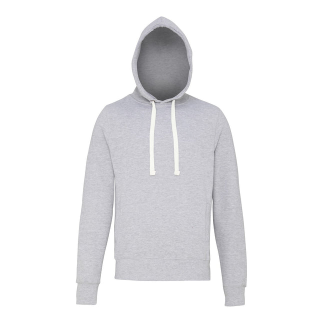 Heather Grey - Front - AWDis Just Hoods Mens Chunky Pullover Hoodie