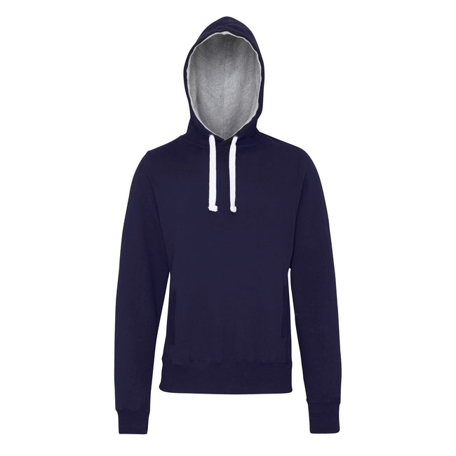 Oxford Navy - Front - AWDis Just Hoods Mens Chunky Pullover Hoodie