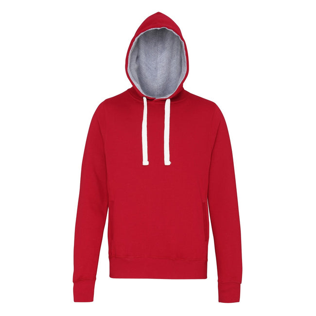 Red Hot Chilli - Front - AWDis Just Hoods Mens Chunky Pullover Hoodie