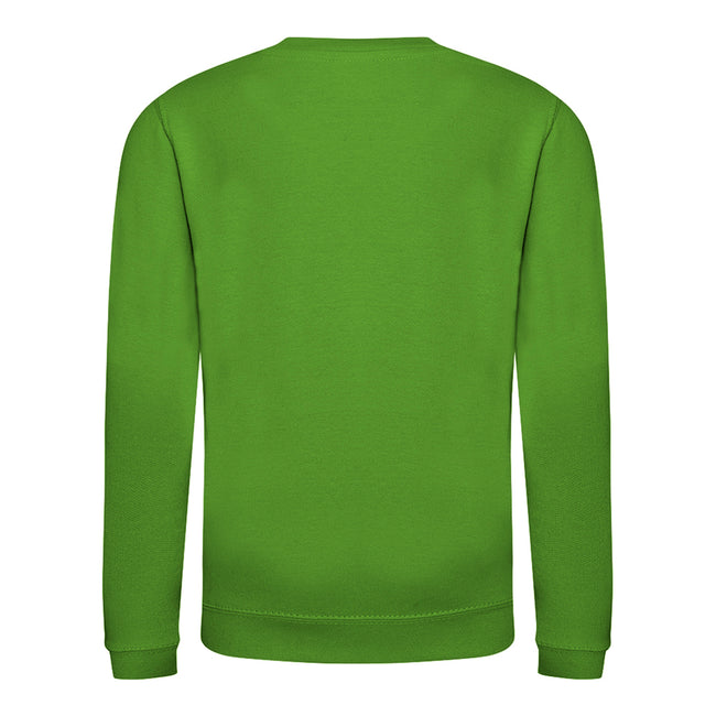 Kelly Green - Front - AWDis Just Hoods Childrens-Kids Plain Crew Neck Sweatshirt