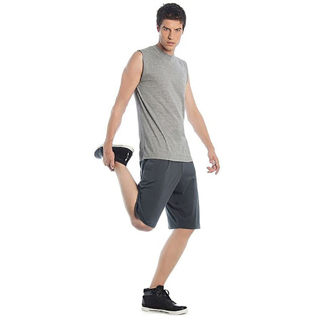 Sport Grey - Back - B&C Mens Exact Move Athletic Sleeveless Sports Vest Top