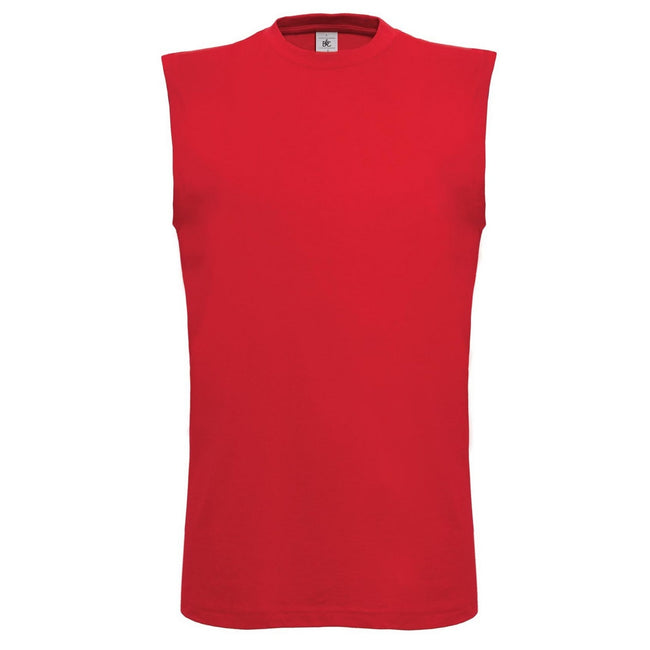 Red - Front - B&C Mens Exact Move Athletic Sleeveless Sports Vest Top