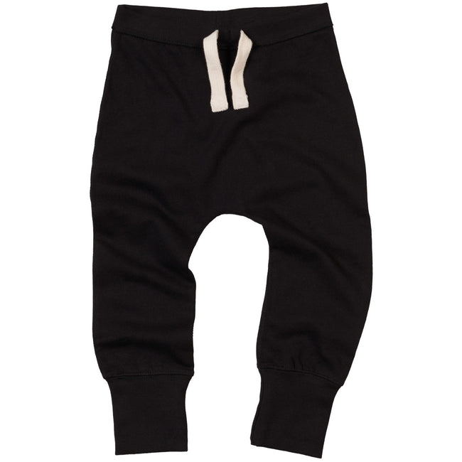 Black - Front - Babybugz Baby Unisex Plain Sweatpants - Jogging Bottoms