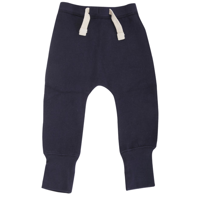 Nautical Navy - Front - Babybugz Baby Unisex Plain Sweatpants - Jogging Bottoms