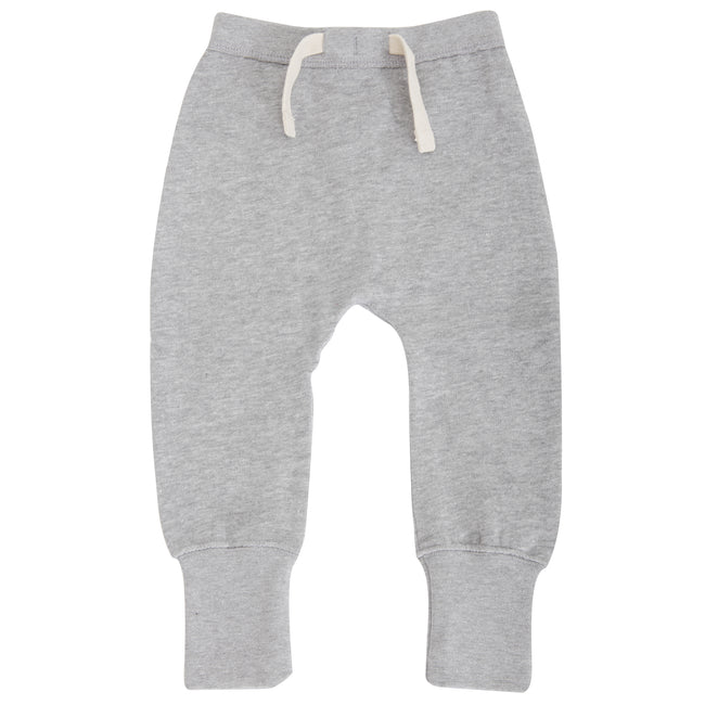 Heather Grey Marl - Front - Babybugz Baby Unisex Plain Sweatpants - Jogging Bottoms