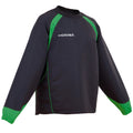 Black- Emerald Green - Front - Kooga Adults Unisex Vortex II Long Sleeve Sports Top