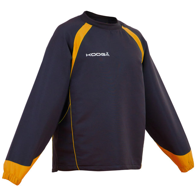 Black- Gold - Front - Kooga Adults Unisex Vortex II Long Sleeve Sports Top