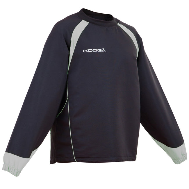 Black- Grey - Front - Kooga Adults Unisex Vortex II Long Sleeve Sports Top