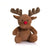 Brown - Front - Mumbles Red Nose Reindeer Plush Teddy Bear Toy