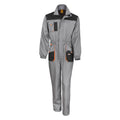 Grey - Black - Orange - Front - Result Unisex Work-Guard Lite Workwear Coverall (Breathable And Windproof)