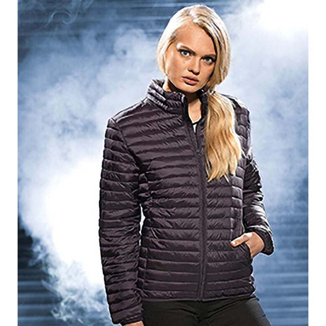 Royal - Side - 2786 Womens-Ladies Tribe Hooded Fineline Padded Jacket