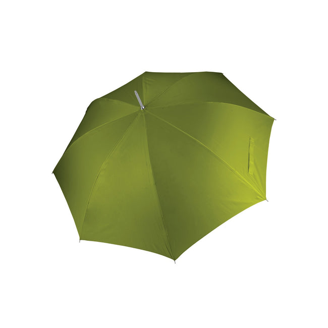 Burnt Lime - Front - Kimood Unisex Auto Opening Golf Umbrella