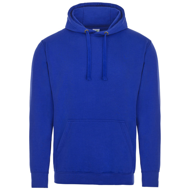 Royal Blue - Front - AWDis Just Hoods Adults Unisex Supersoft Hooded Sweatshirt-Hoodie