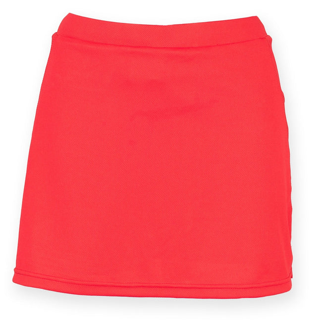 Red - Front - Finden & Hales Womens-Ladies Sports Skort With Moisture Wicking Finish