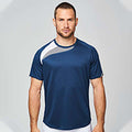 Navy- White- Storm Grey - Back - Kariban Proact Mens Short Sleeve Crew Neck Sports T-Shirt