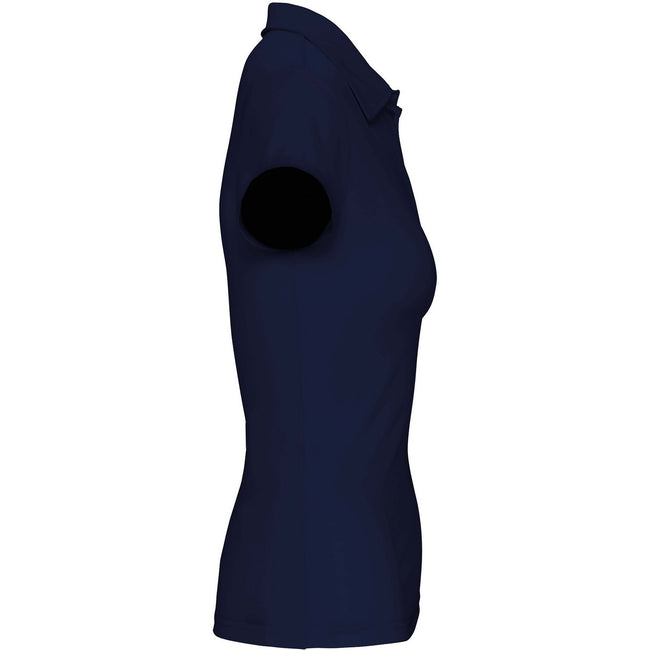 Red - Front - Kariban Proact Womens-Ladies Short Sleeve Performance Polo Shirt