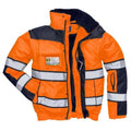 Yellow- Black - Front - Portwest Mens High Visibility Classic All Weather Bomber Jacket