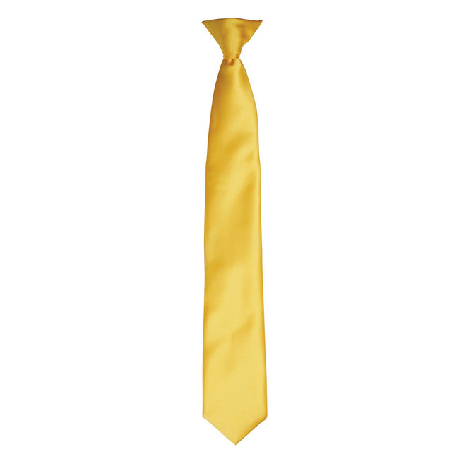 Sunflower - Front - Premier Colours Mens Satin Clip Tie