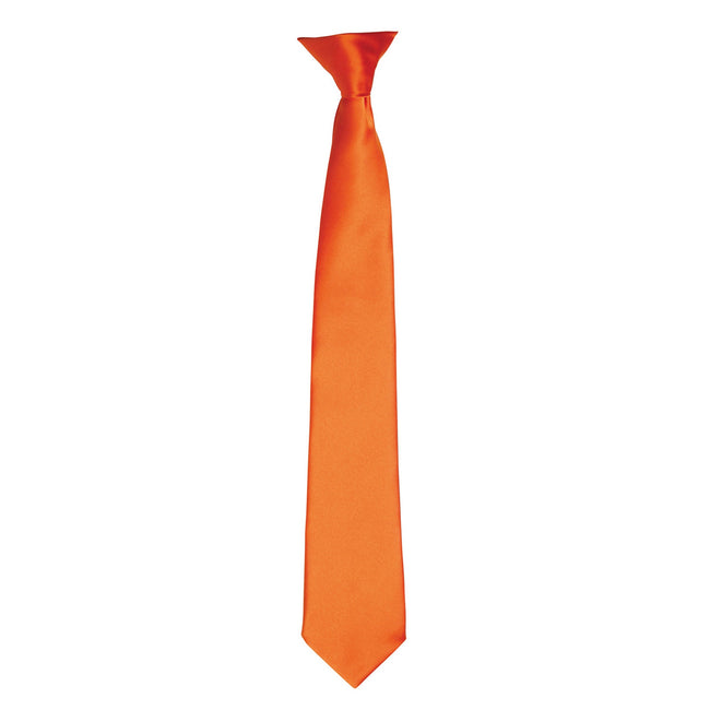 Terracotta - Front - Premier Colours Mens Satin Clip Tie