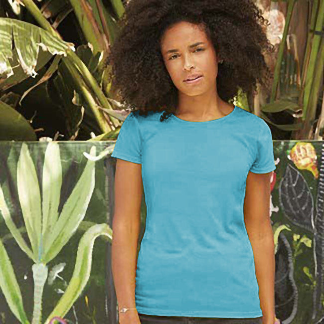 Light Graphite - Back - Fruit Of The Loom Womens-Ladies Short Sleeve Lady-Fit Original T-Shirt
