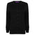 Black - Front - Henbury Womens-Ladies V-Neck Cashmere Touch Button Up Cardigan