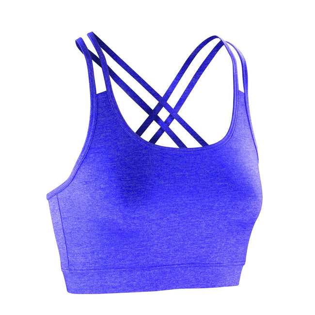 Lavender - Front - Spiro Womens-Ladies Fitness Sleeveless Crop Top