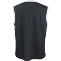 Black - White - Back - Spiro Mens Basketball Quick Dry Sleeveless Top