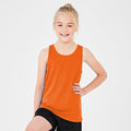 Electric Green - Back - AWDis Just Cool Childrens-Kids Plain Sleeveless Vest Top