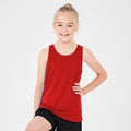 Purple - Back - AWDis Just Cool Childrens-Kids Plain Sleeveless Vest Top