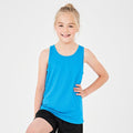 Hot Pink - Front - AWDis Just Cool Childrens-Kids Plain Sleeveless Vest Top