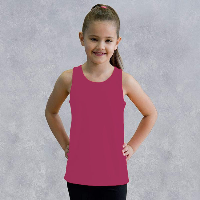 Royal Blue - Front - AWDis Just Cool Childrens-Kids Plain Sleeveless Vest Top