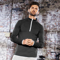 Jet Black- Arctic White - Back - AWDis Just Cool Mens Half Zip Sweatshirt